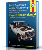 FORD SUPER DUTY, F-250 i F-350 PICK-UPS, EXCURSION (1999-2010) - instrukcja napraw Haynes