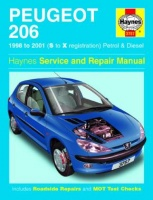 PEUGEOT 206 (1998-2001) Haynes Service and Repair Manual